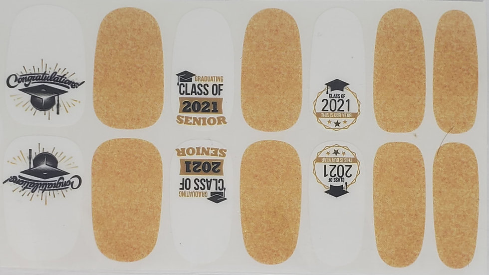 Class of 2021 in gold-Graduation