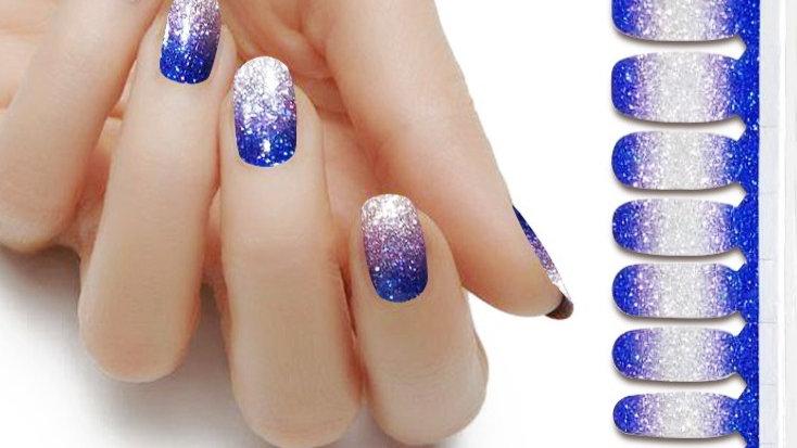 Blue Silver Ombre