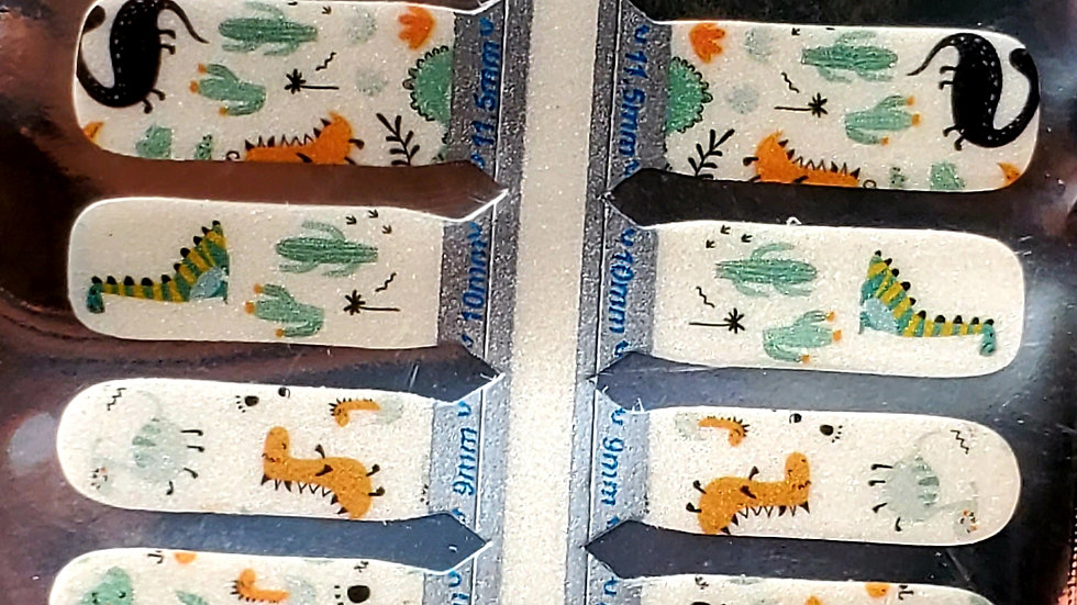 Dinosaurs friends Nail Polish Strips