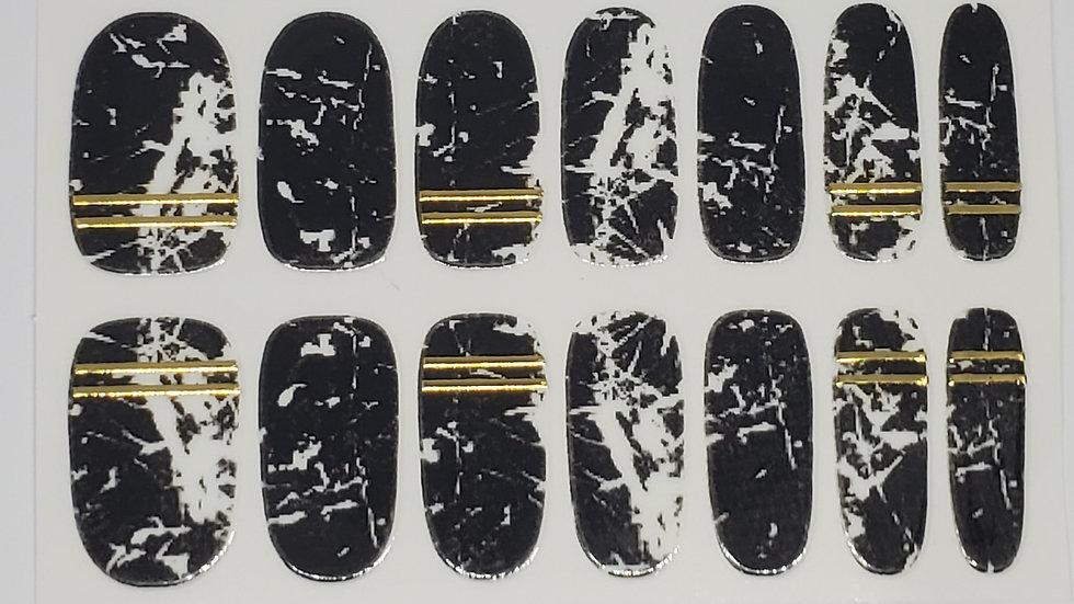 Metallic Black Marble