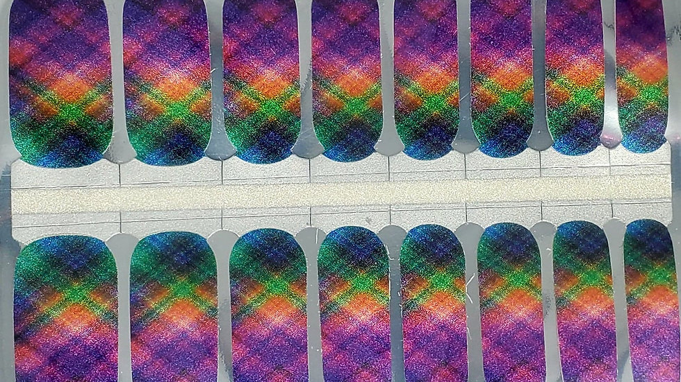 Rainbow Plaid- Exclusive Design/Limited edition