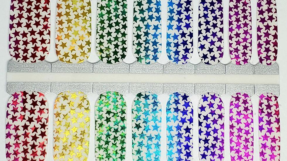 Stars in Rainbow