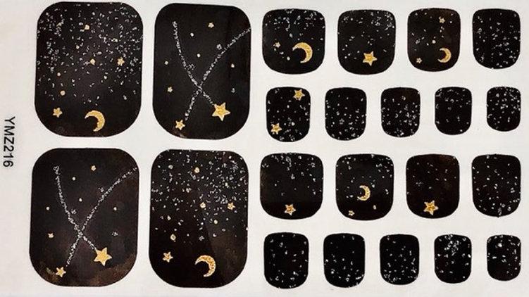 Raining stars toes
