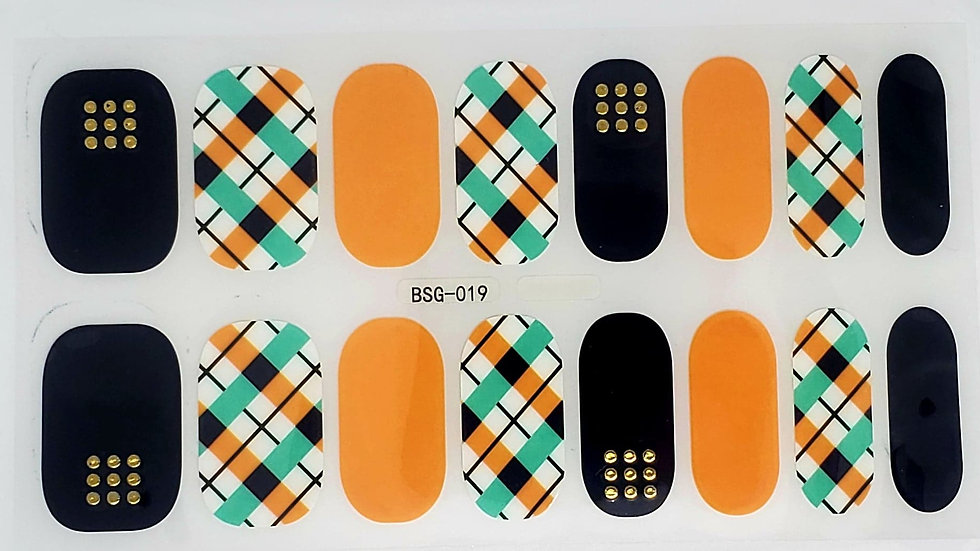 9 dots plaid