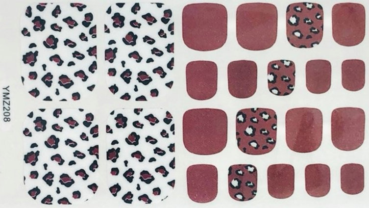 Carmine Leopard Toes
