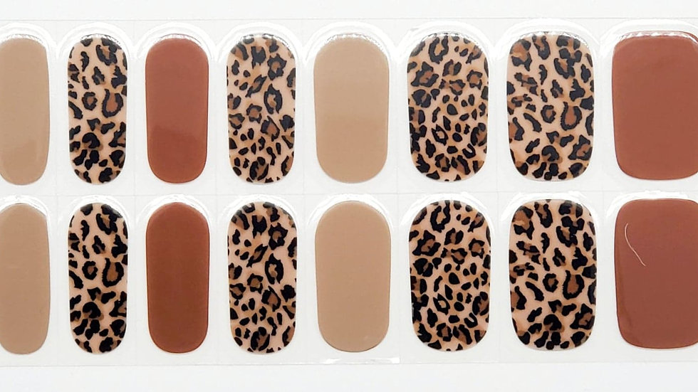 Gel Nail wraps- Autumn Leopard