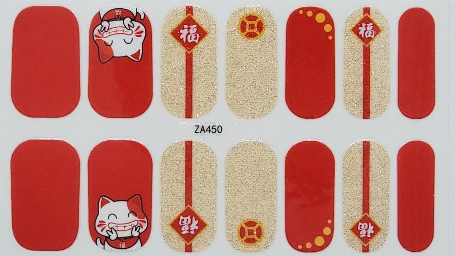Oriental Peace and love-Cat Design