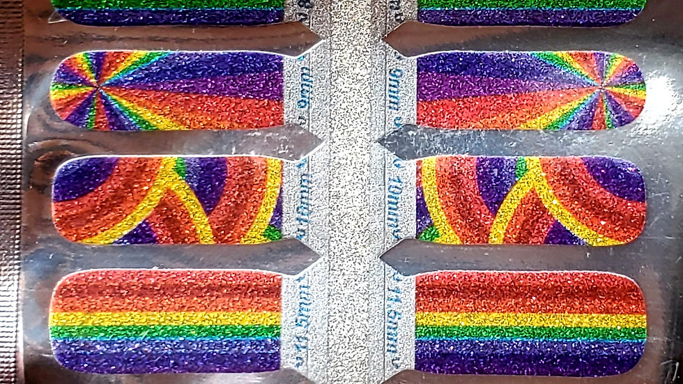 Rainbow Swirl Nail Polish Strips