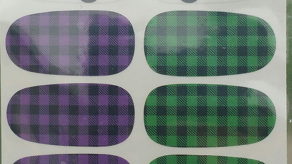Purple and green plaid