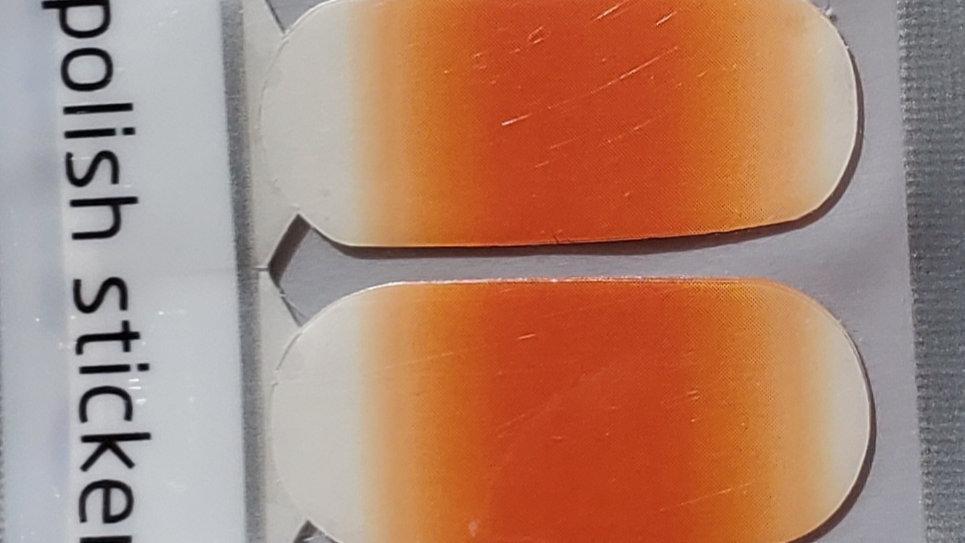 Orange dreamsicle ombre