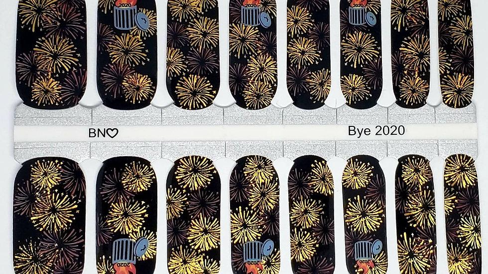 Bye 2020 - Nail wraps, Nail Polish strips, New Year Nails