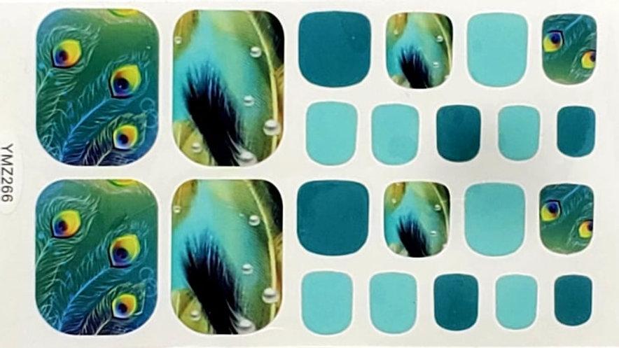 Peacock Feathers Pedi Set