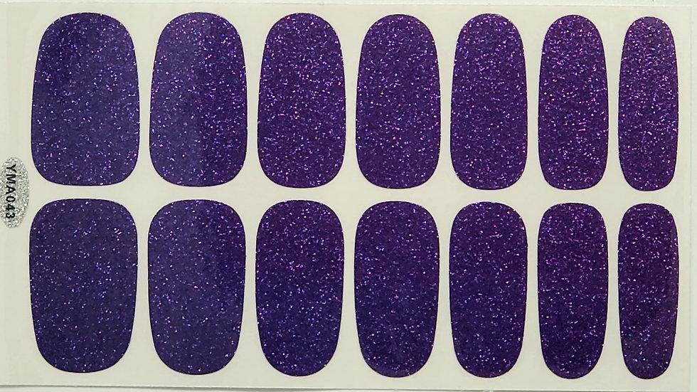 Dark Purple- Glitter Design