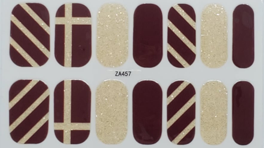 Gold and Burgundy Stripes
