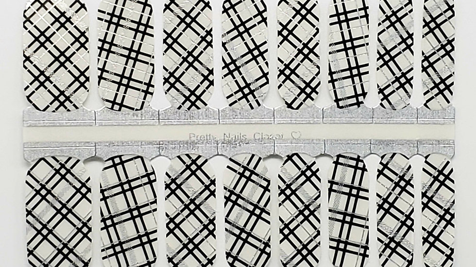 Black and Silver Plaid Overlay- Exclusive Design