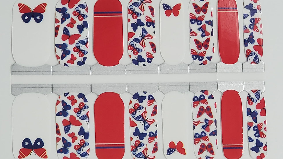 Free as a butterfly- Patriotic Design