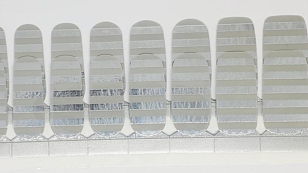Metallic Silver Stripes