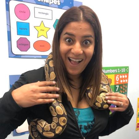 Meeting Titus the snake
