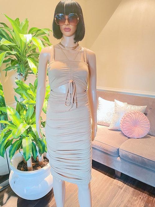 Sophia Rich Dress Nude