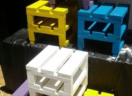 Pallet Side Table Color Splash