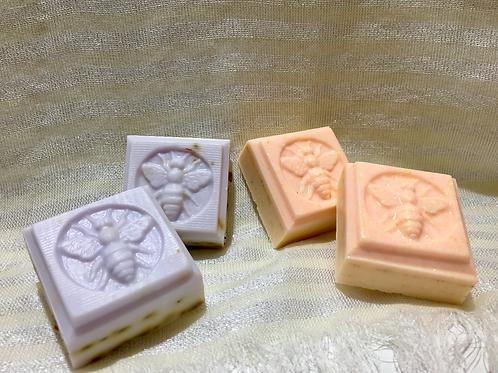 Handmade Honey Goats Milk Soap, Square
