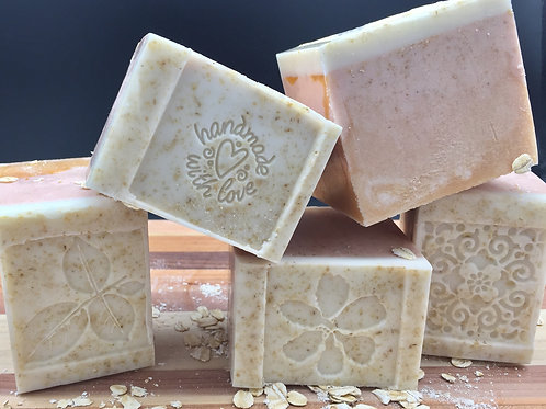 Honey Almond Oatmeal Cube Goat Milk Soap