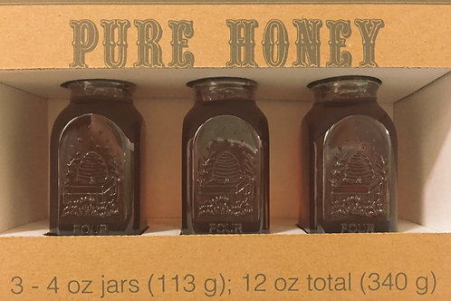 Gift box of 3, Anika Honey 4oz bottles