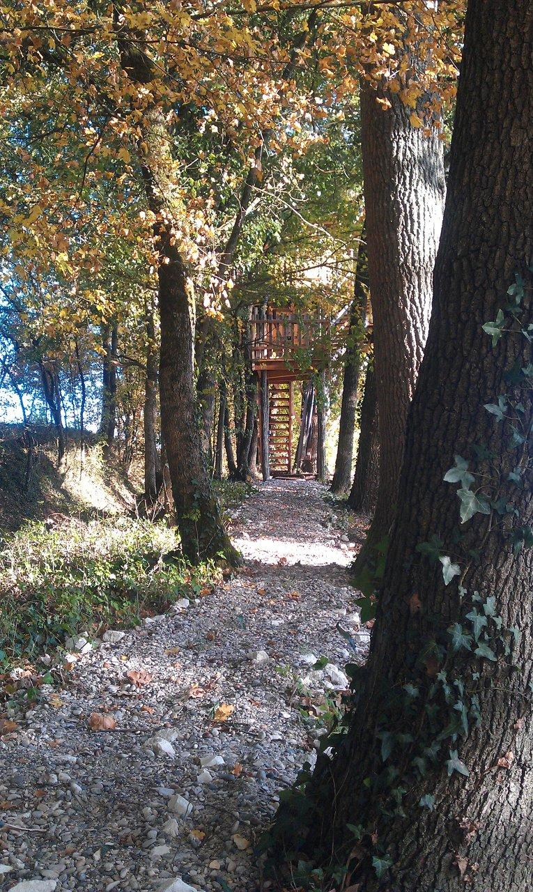 Cabane dans les arbres aquitaine