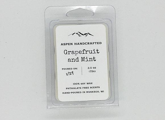 Grapefruit and Mint - 2.5oz. Soy Wax Melt