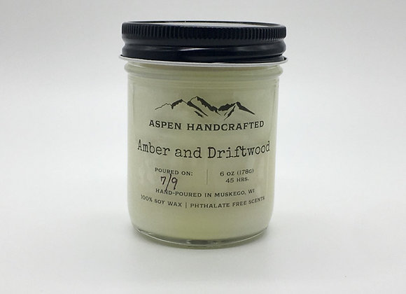 Amber and Driftwood - 6oz. Soy Candle