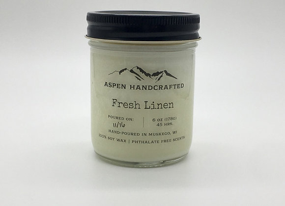 Fresh Linen - 6 oz. Soy Candle