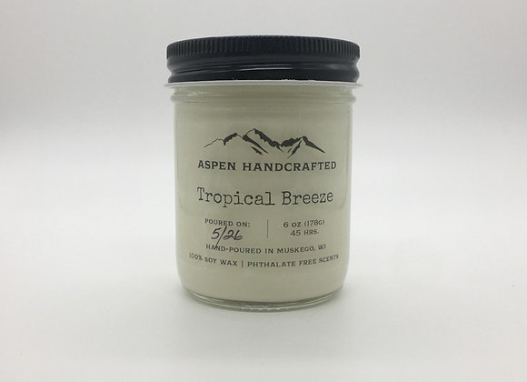 Tropical Breeze - 6 oz. Soy Candle