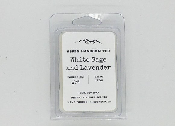 White Sage and Lavender - 2.5oz. Soy Wax Melt