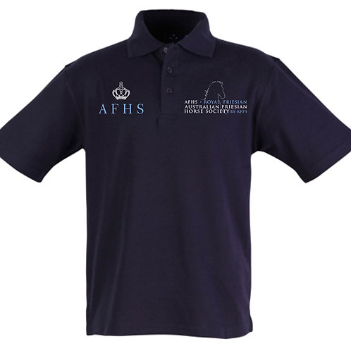 Solid Navy Traditional Logo Unisex Polo