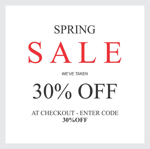 30% OFF WINTER STOCK SALE