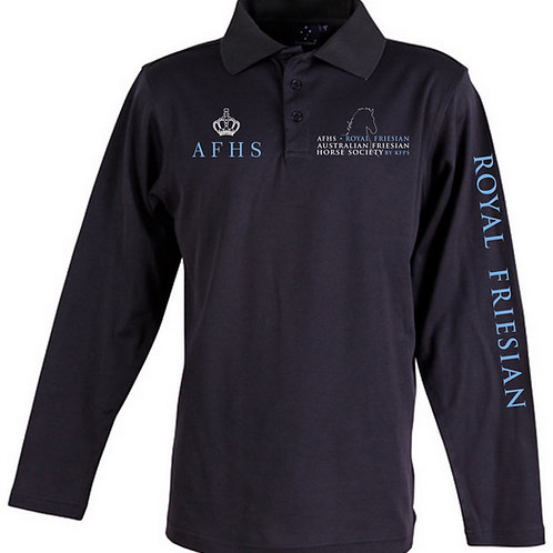 AFHS logo Truedry Long Sleeved Polo