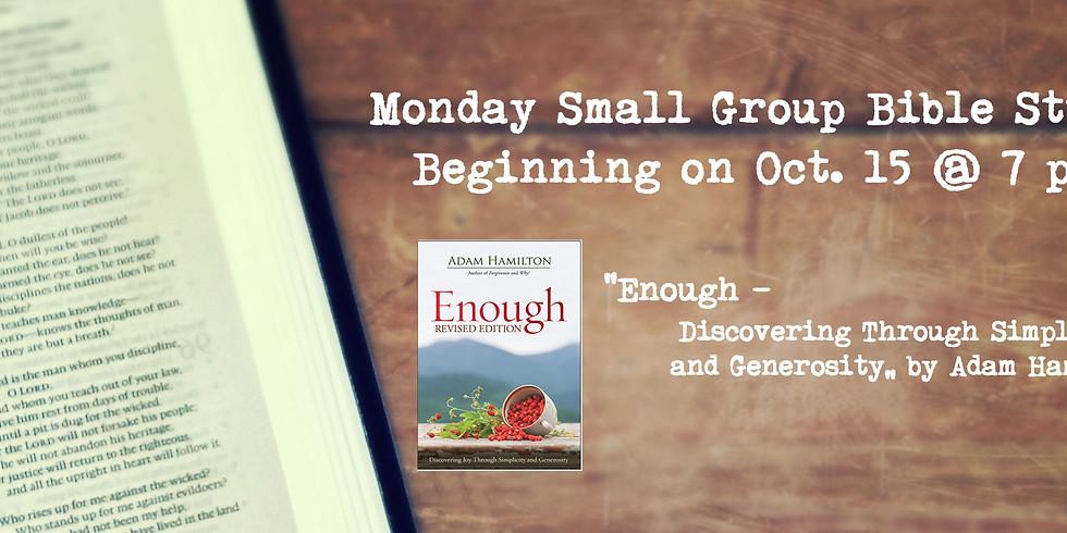 "Small Group Bible Study ""Enough"" by Adam Hamilton"