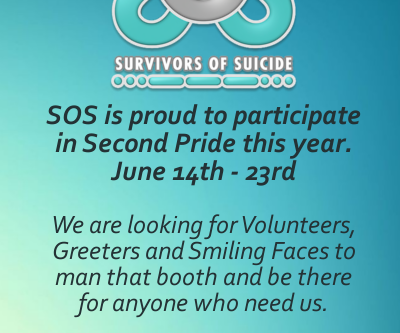 SOS will be at Second Pride!