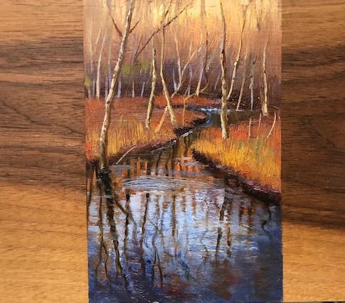 5x7 Oil on Wood
