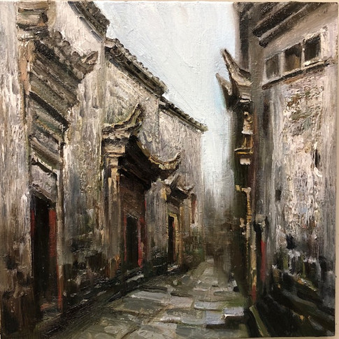 16x16 Oil on Canvas