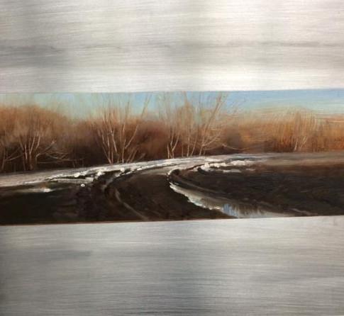 16x11 Oil on Metal