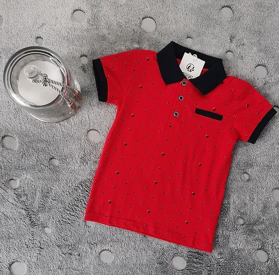 """Polo en coton motif """"coupe"""" 12 ans"""