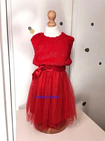 Robe de fête pailletée rouge