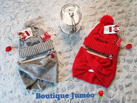 Bonnet & tour de cou Minnie