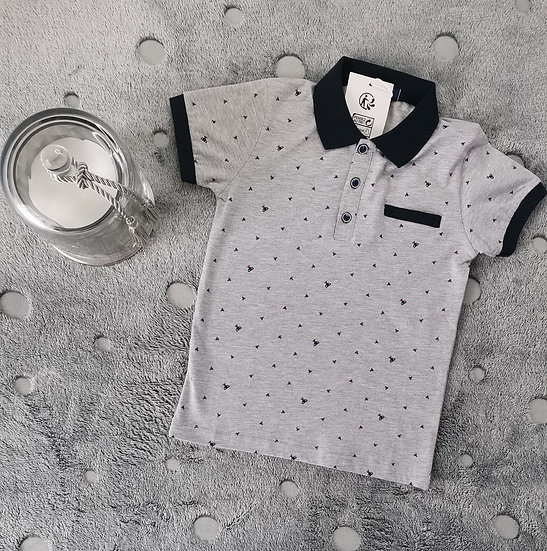 """Polo en coton motif """"coupe"""""""