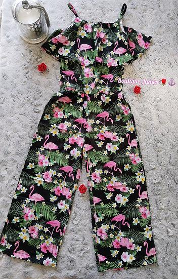 Combinaison Flamand rose