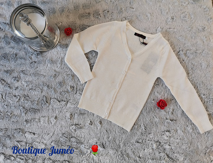 Gilet fanny blanc-rouge-rose-marine