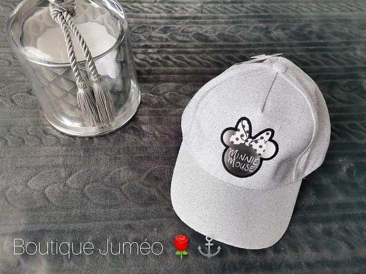 Casquette Minnie argenté