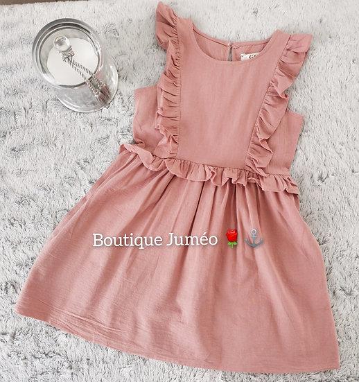 Robe froufrou rose
