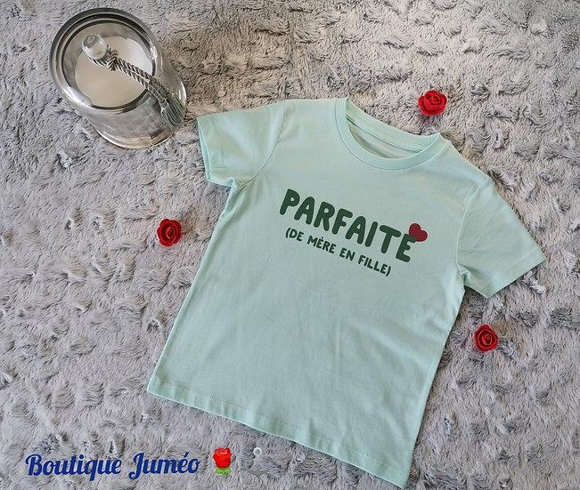 "T-shirt coton bio ""Parfaite"""